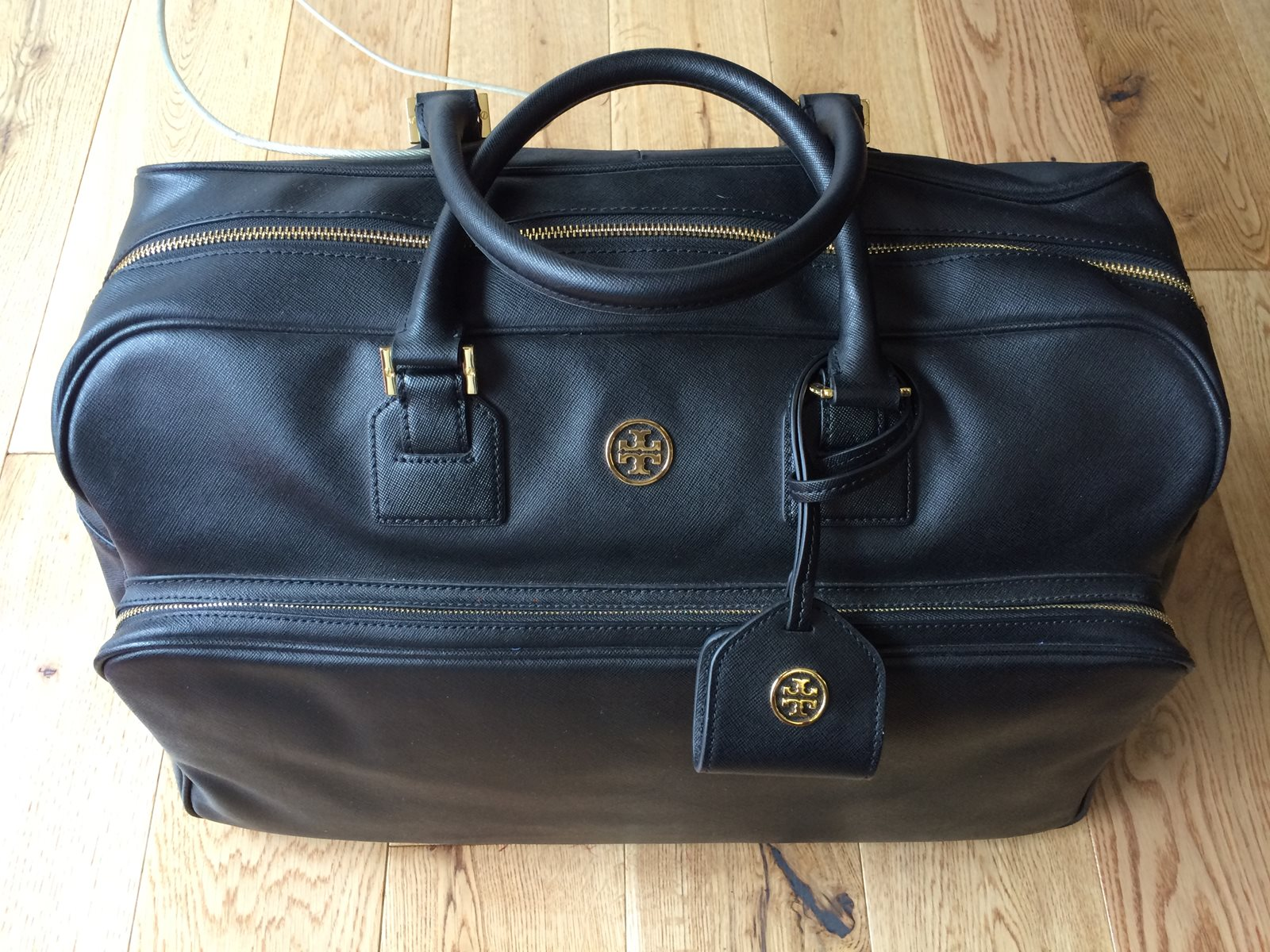 Tory Burch Black Leather Large Bag - The Loft, London